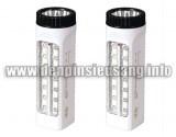 Thông số kĩ thuật: – Màu sắc: trắng đen – Chức năng: vừa đèn pin, vừa là đèn chiếu sáng – Công suất pin: 900mAh – LED: 14 + 5 LED – Kích thước: 52 x 30 x 49 mm – Thời gian sử dụng: 8-16 h Giá(hết hàng) (Chưa bao gồm VAT)<!-- AddThis Sharing Buttons below -->