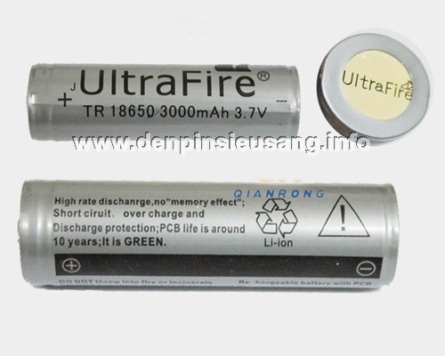 Pin 18650 Ultrafire 3000mAh protected