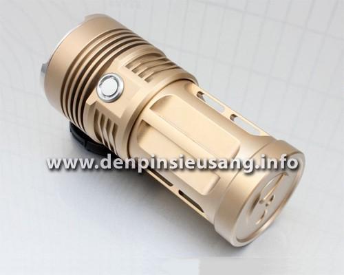 Đèn pin siêu sáng Skyray King 3T6với thiết kế độc đáo, 3 led XM-l T6 dùng 1-4 pin cho độ sáng cực cao. Thông số kĩ thuật: – Thương hiệu: Skyray King – Mã SP: 3T6 – Sử dụng 3 Led CREE XML-T6, cho độ sáng cực cao – Độ sáng thực 2000 lumen – Chiếu xa: 100m – Kích thước: 133mm x 57mm x52mm – Trọng lượng:330g – Đèn có 3 chế độ sáng: […]<!-- AddThis Sharing Buttons below -->