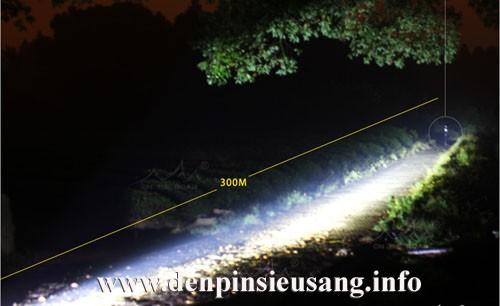 Đèn pin siêu sáng Wasing WFL-H2 XM-L2 1000lm