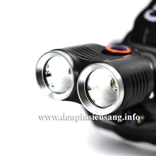 Đèn xe đạp siêu sáng - đèn đeo trán siêu sáng D30