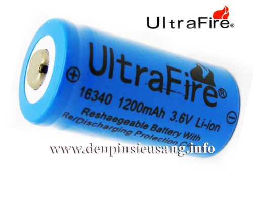 Pin 16340 Ultrafire 3.7v
