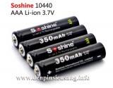 Thông số kỹ thuật – Thương hiệu: Soshine – Chuẩn pin 10440 (AAA) – Dung lượng: 350mAh – Điện thế: 3.7V – Màu sắc: đen. Giá: 100,000 vnđ<!-- AddThis Sharing Buttons below -->