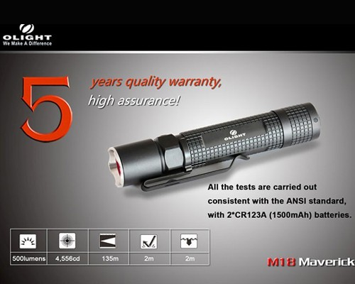 Đèn pin Olight M18 Maverick