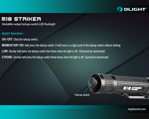 Đèn pin Olight M18 Striker