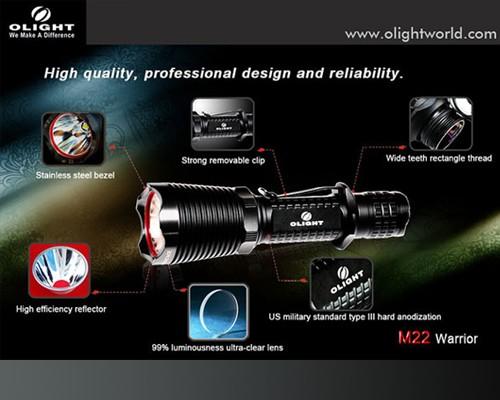 Đèn pin Olight M22 Warrior