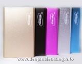 Sạc dự phòng Samsung S53 thiết kế siêu mỏng , kiểu dáng sang trọng , độ bền cao , ….. Thông số kỹ thuật: – Dung lượng pin: 5300mAh – 1 ngõ ra USB: USB 5V1A – Sạc được các thiết bị: máy nghe nhạc, điện thoại… – Ngõ vào: DC4.8-5.4V Max 2000mA cổng micro USB thông dụng (sạc điện thoại) – Kích thước: 109mm x 68mm x 9mm – Trọng lượng: 150g – Màu […]<!-- AddThis Sharing Buttons below -->