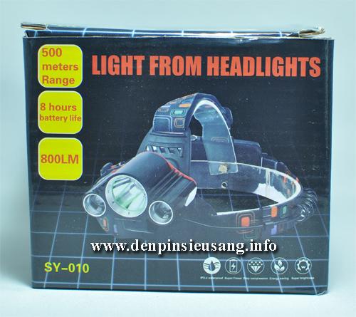 Đèn đội đầu 3 led SY-010