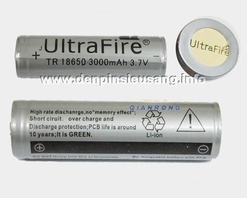 Pin 18650 Ultrafire 3000mAh protected