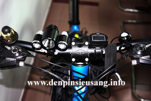 Đèn đeo trán, gắn xe đạp 3Led 1600lm
