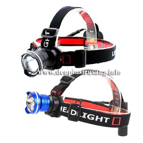 Đèn đeo trán zoom t6 1pin