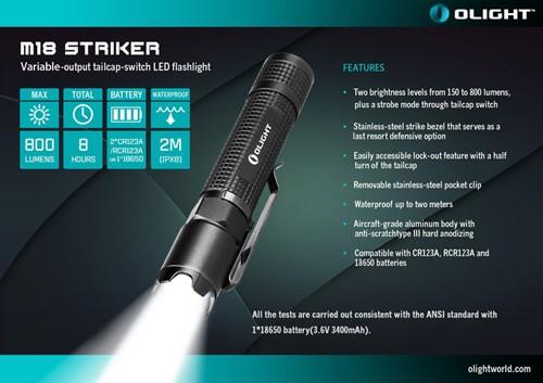 Đèn pin Olight M18 Striker