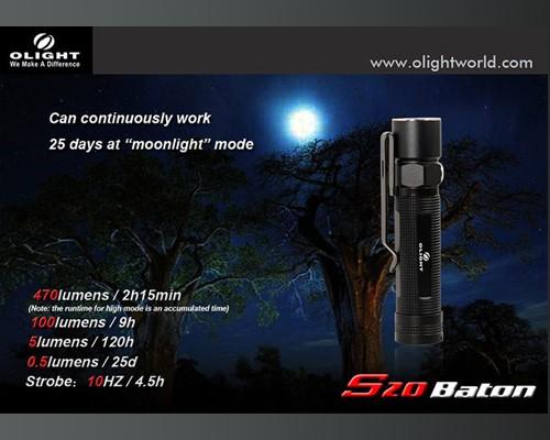 Đèn pin Olight S20 Baton