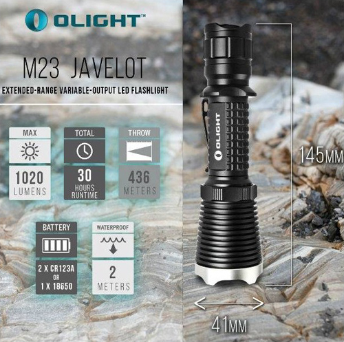 Đèn pin Olight M23 Javelot